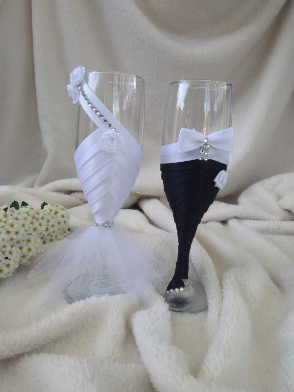 Esküvői pohár szett, rózsás