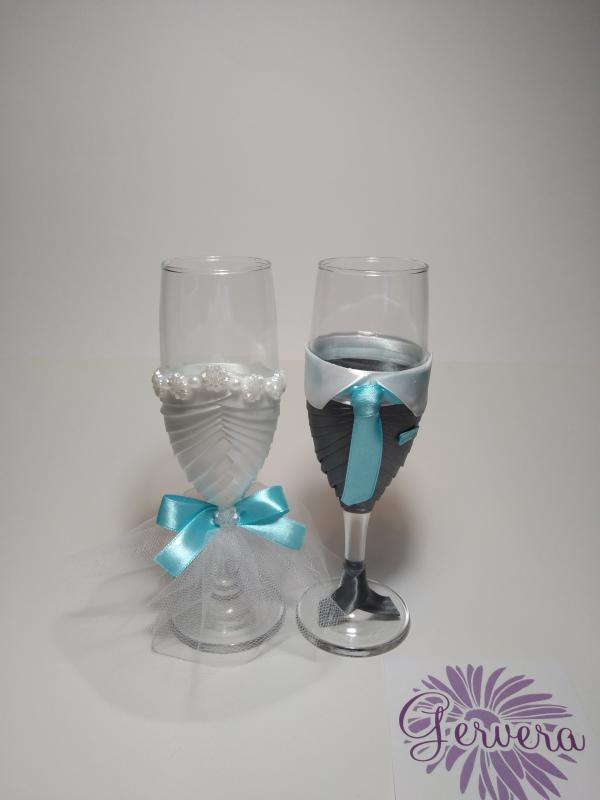 Esküvői pohárszett, a Te színeddel