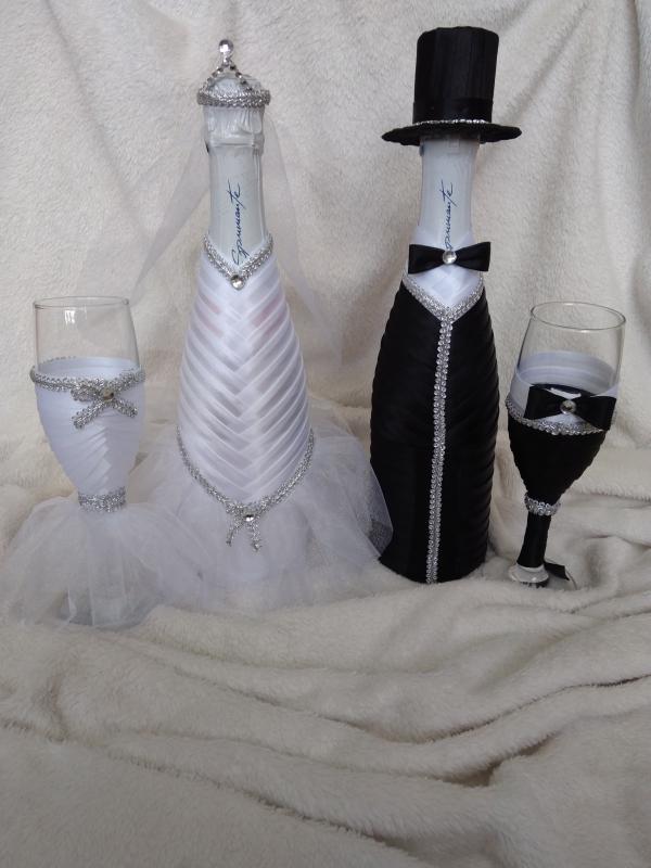 Esküvői szett fekete, fehér