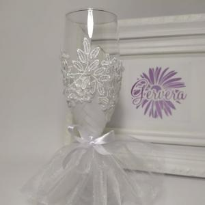 Csipke romantika, esküvői pohár