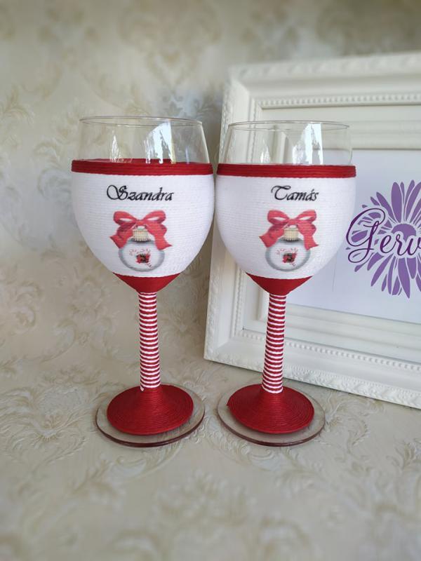 Karácsonyi boros pohár, gömb
