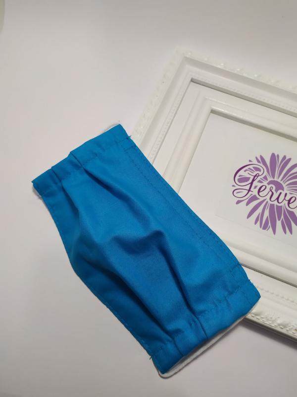 Kétrétegű textilmaszk, kék színű