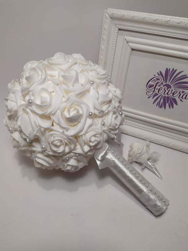 Menyasszonyi csokor, extra gömb