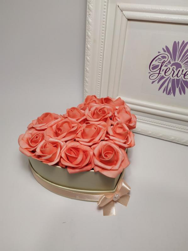 Mini szív virágbox