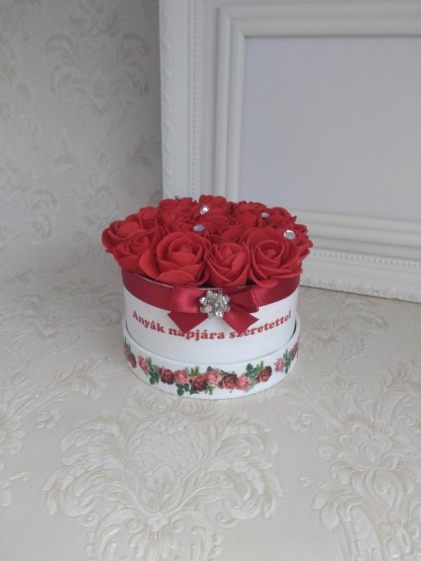 Mini virágbox anyák napjára,strasszos