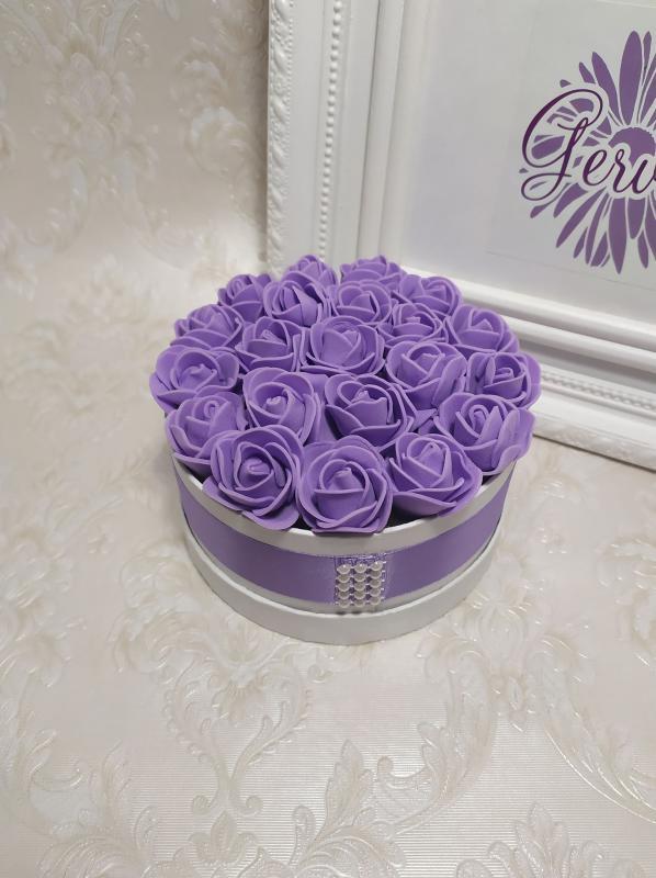 Mini virágbox lila