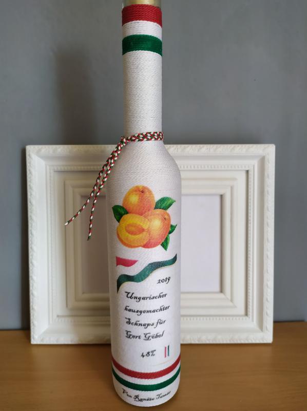 Pálinkás üveg, egyedi megrendelésre