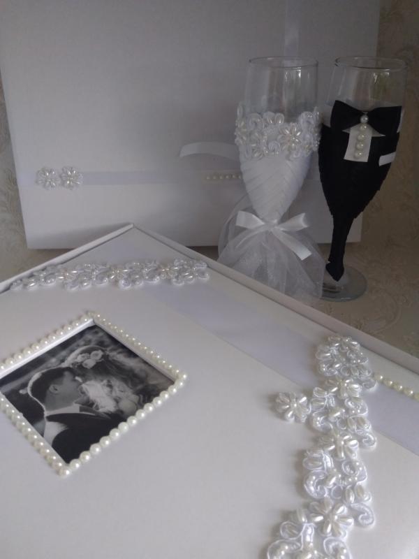 Pezsgős pohár fotóalbummal, exkluzív