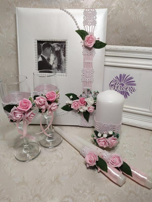 Rózsás romantika, szett esküvőre