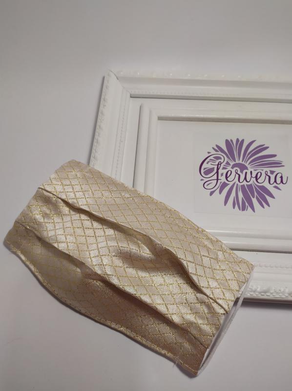 Textil maszk, kétrétegű, arany