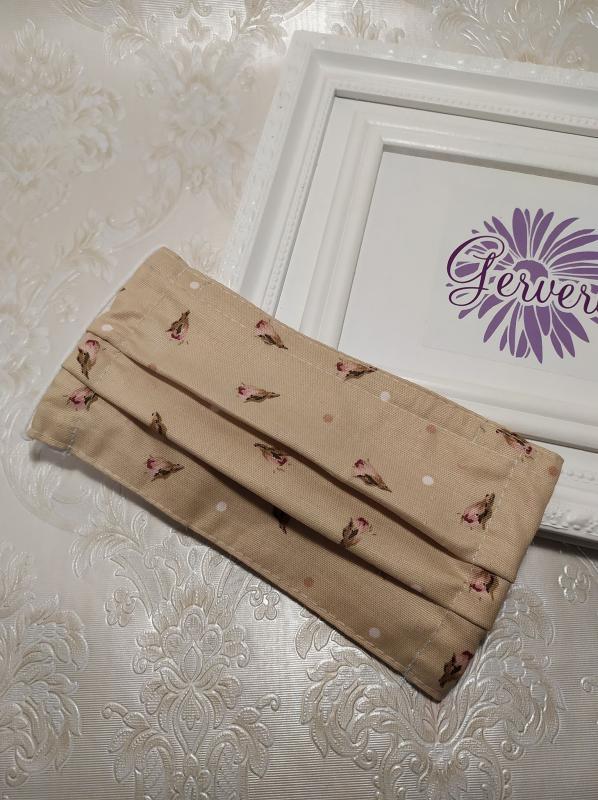 Textil maszk, kétrétegű, tulipános