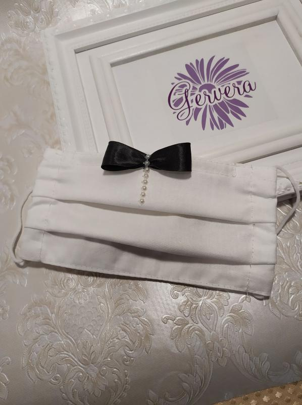 Textil maszk, kétrétegű, vőlegény