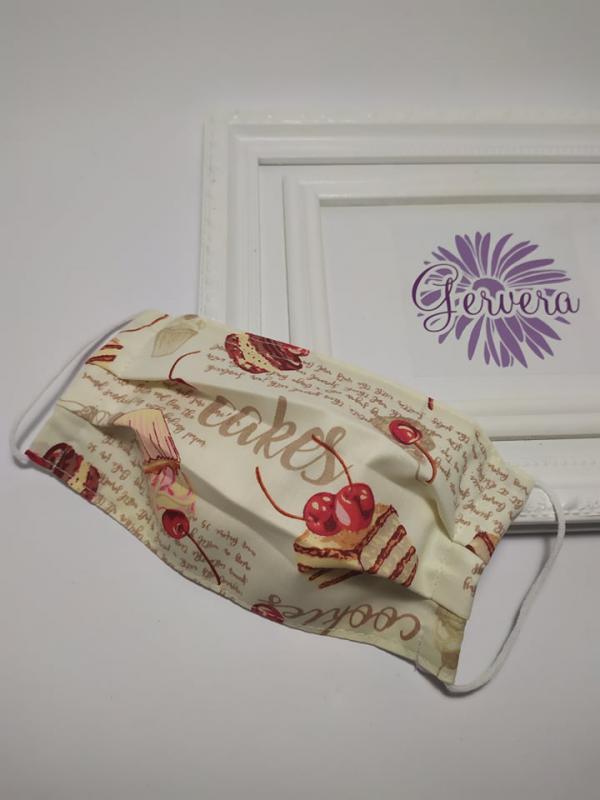 Textil maszk,kétrétegű, sütis