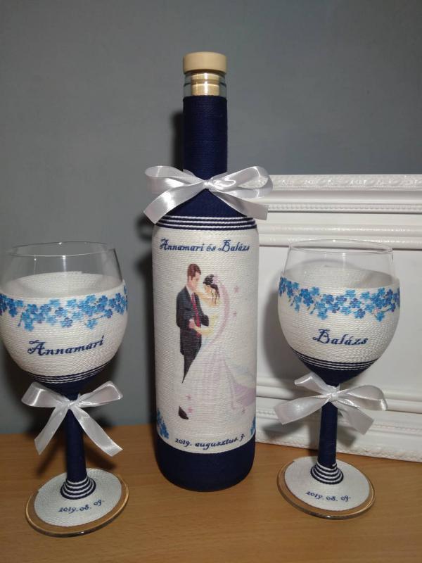 Zsinóros boros szett esküvőre