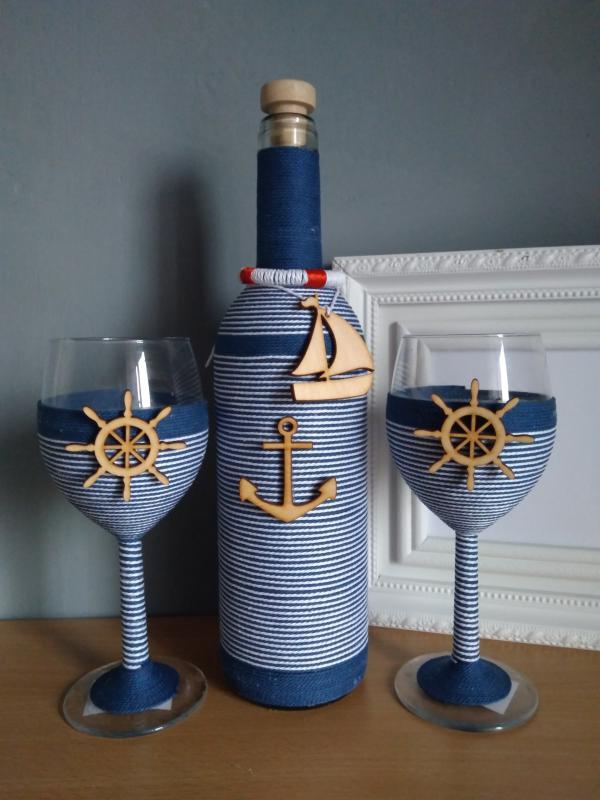 Zsinóros boros szett, tengerész