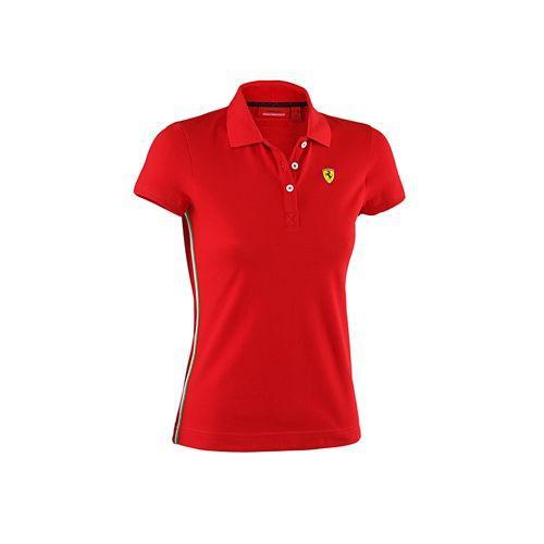 Scuderia Ferrari női póló galléros piros színben - L. 1182b09ab7