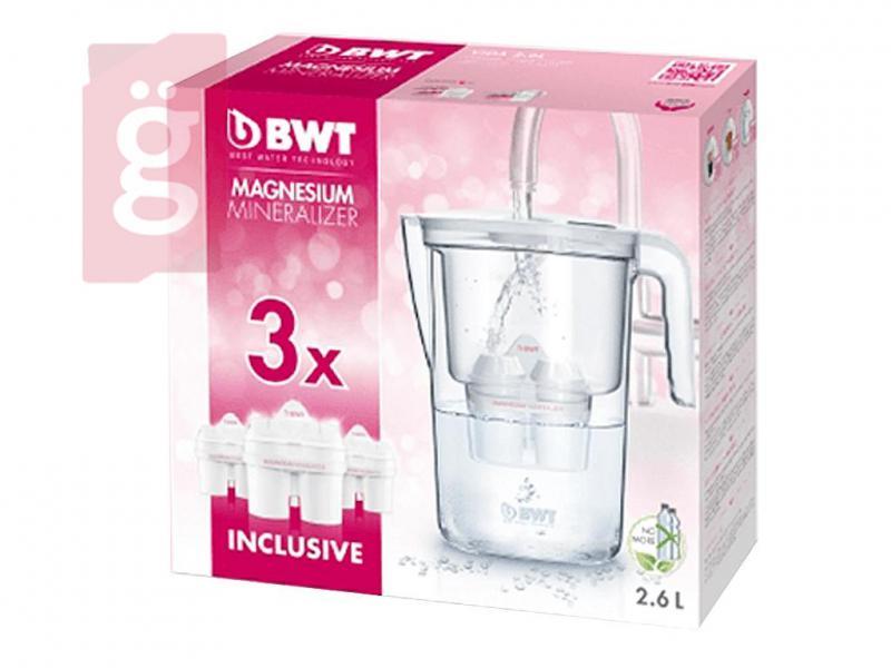 BWT Vida Vízszűrő kancsó 2.6l (manuális) 3db filterrel