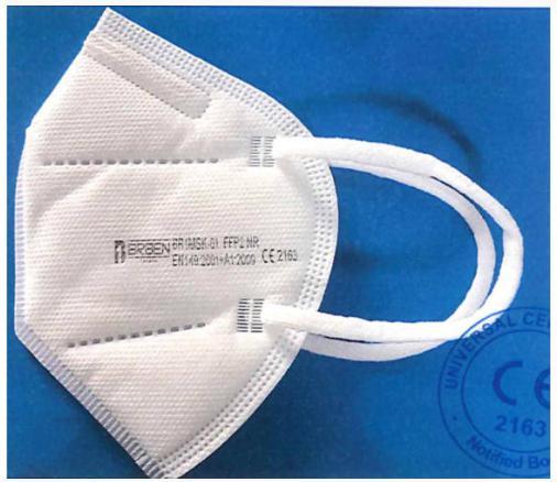 FFP2, KN95 csészeálarc BRBEN FFP2 NR védőmaszk légzést segítő szelep nélkül