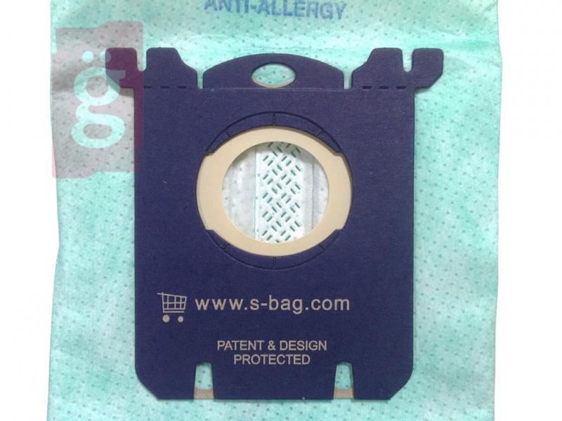 IZ-E5/PH5GY04S Electrolux S-BAG Philips S-bag Anti-allergy  Gyári mikroszálas porzsák (4db/csomag)