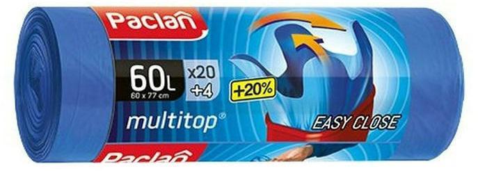 Paclan Multi Top szemeteszsák 60l (*20+4zsák) 60cm*77cm 11my