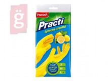 Paclan Practi Gumikesztyű Extra Erős - L-es méret 1 pár/csomag (Citrom illattal, gyapjúbéléssel)
