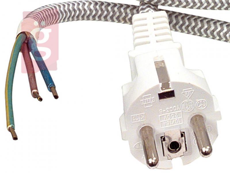 Vasaló Hálózati Csatlakozókábel / Vasalózsinór 3 méter (3x0.75mm²)