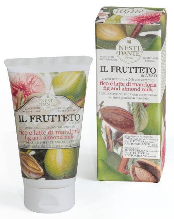 Nesti Dante Il frutteto Füge-mandulatej arc- és testkrém - 150 gr