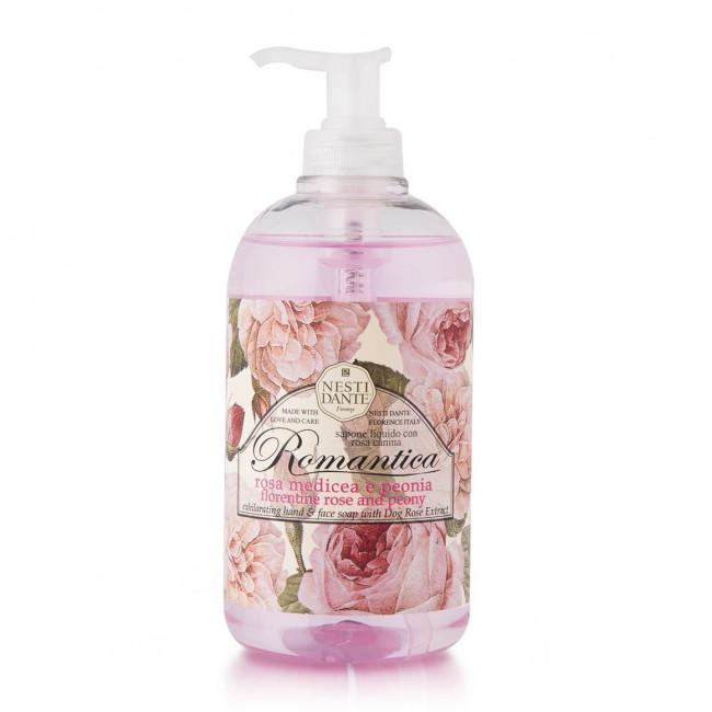 Nesti Dante Romantica Rózsa-peónia Folyékony szappan - 500 ml