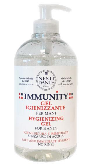 Nesti Immunity kézfertőtlenítő gél 65% alkohol tartalommal - 500 ml