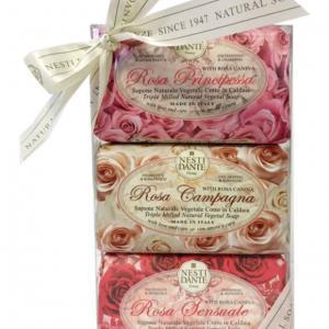 Nesti Dante ajándékszett - Le Rose - rózsás szappanok 3 x 150 gr