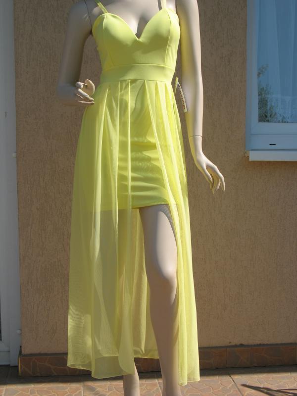 9ce7b33389 Olasz, Női pántos sárga ruha hosszú tüllel [140930] - gboot ...