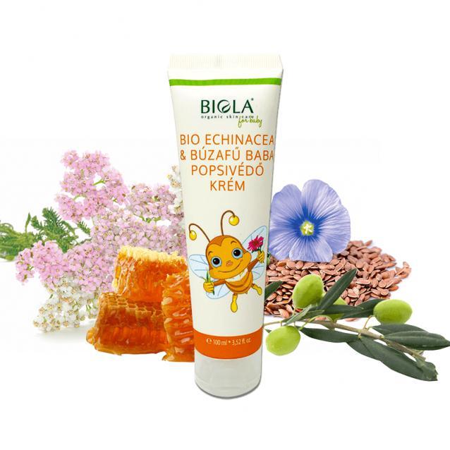 Biola Bio echinacea és búzafű baba popsivédő krém (100 ml)