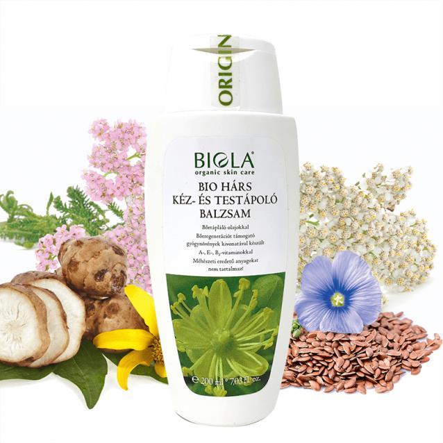 Biola Bio hárs kéz- és testápoló balzsam (200 ml)