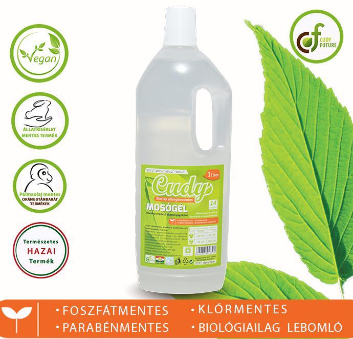 Cudy Illatmentes folyékony mosószer (1,5 l)
