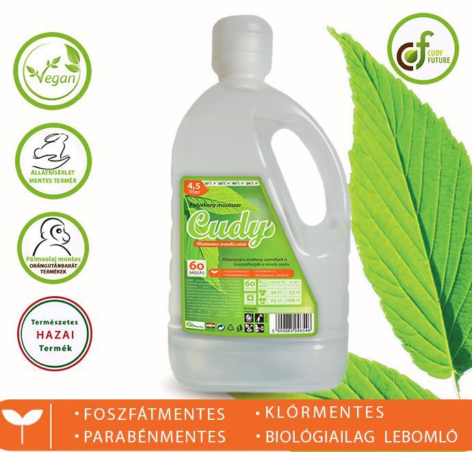 Cudy Illatmentes folyékony mosószer (4,5 l)