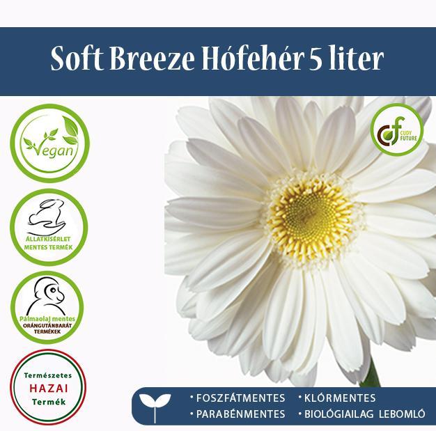 Cudy Soft Breeze öblítőkoncentrátum, hófehér (5 l)