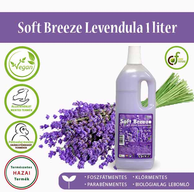 Cudy Soft Breeze öblítőkoncentrátum, levendula (1 l)