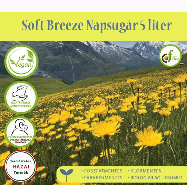 Cudy Soft Breeze öblítőkoncentrátum, napsugár (5 l)