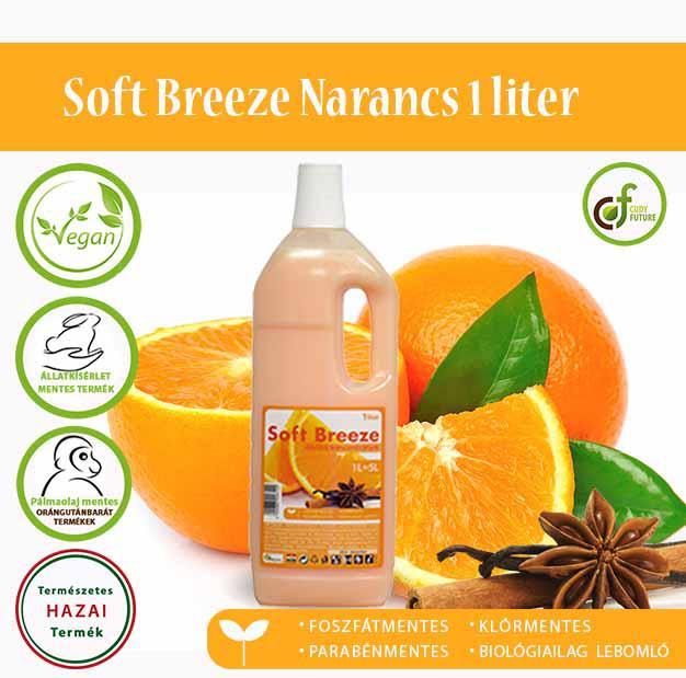 Cudy Soft Breeze öblítőkoncentrátum, narancs (1 l)