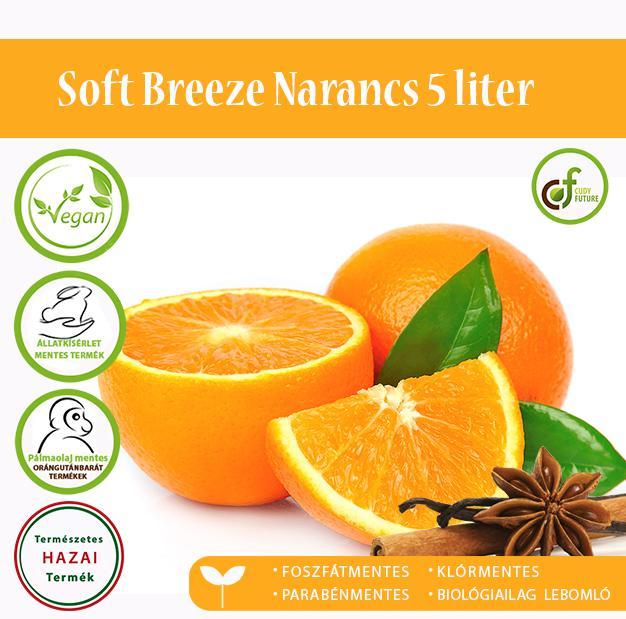 Cudy Soft Breeze öblítőkoncentrátum, narancs (5 l)