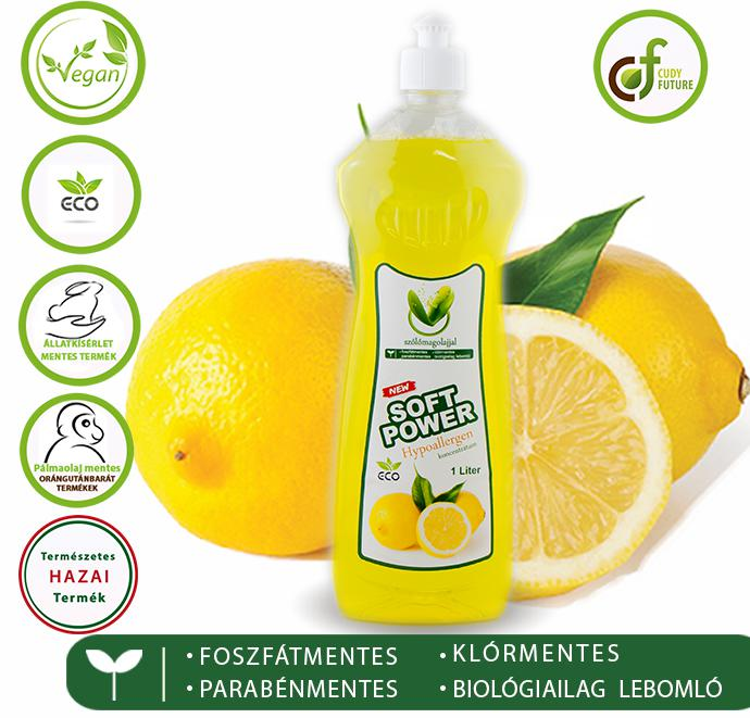 Cudy Soft Power mosogatószer, citrom (1 l)