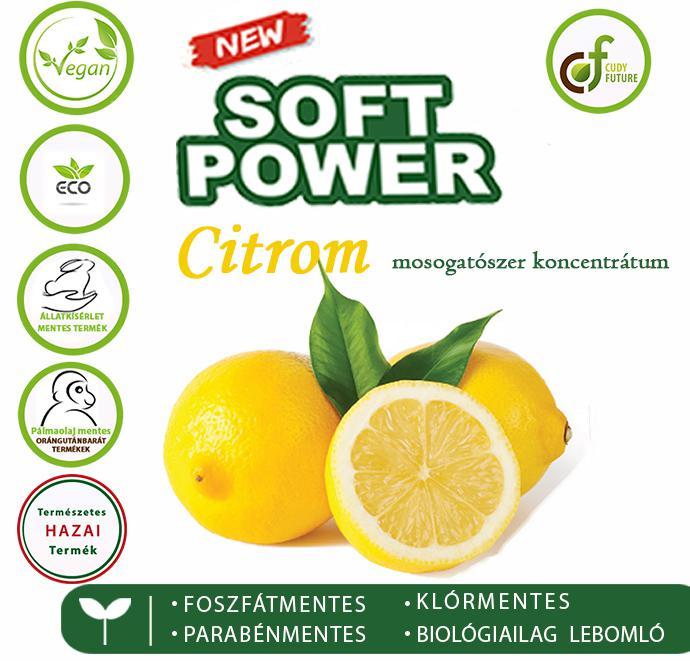 Cudy Soft Power mosogatószer, citrom (5 l)