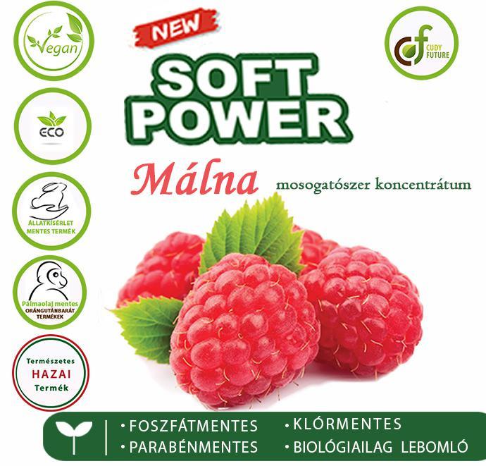 Cudy Soft Power mosogatószer, málna (5 l)
