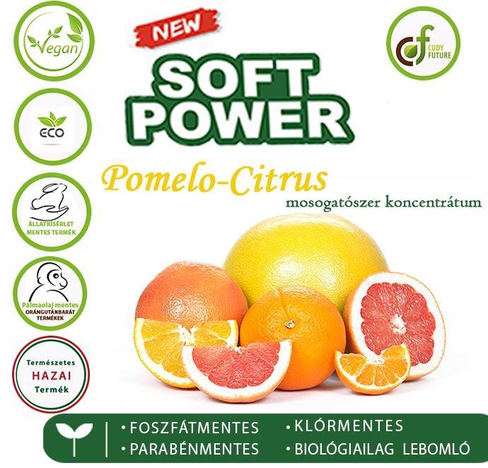 Cudy Soft Power mosogatószer, pomelo-citrus (5 l)