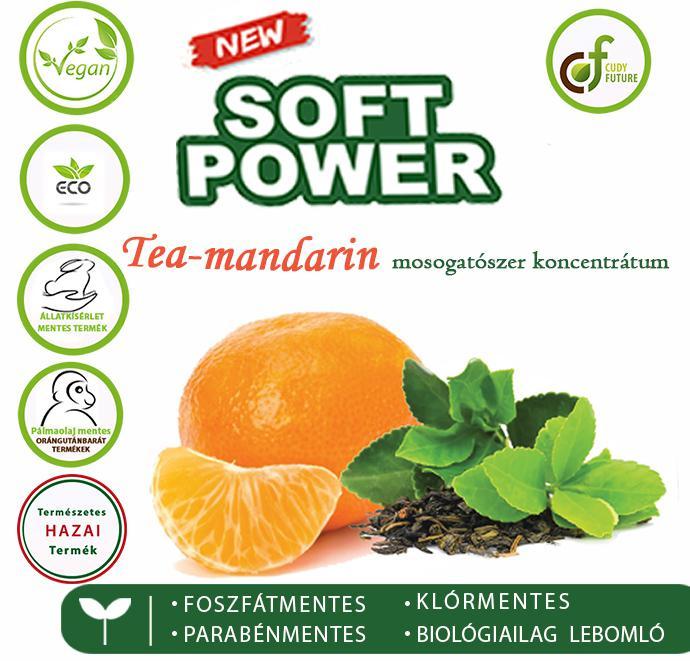 Cudy Soft Power mosogatószer, tea-mandarin (5 l)
