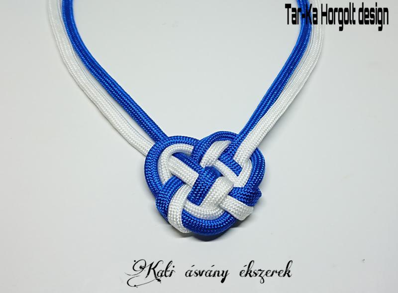 Paracord kék fehér nyaklánc
