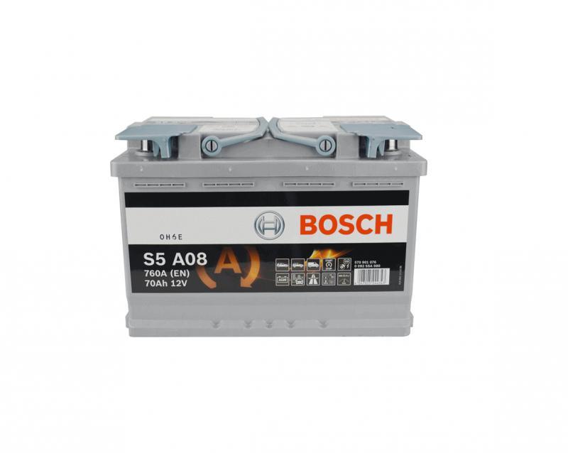Akkumulátor BOSCH SILVER S5 AGM 70AH 760A Jobb+  SYSTEM START-STOP