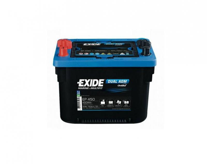 Akkumulátor EXIDE DUAL AGM 50AH 750A EP450