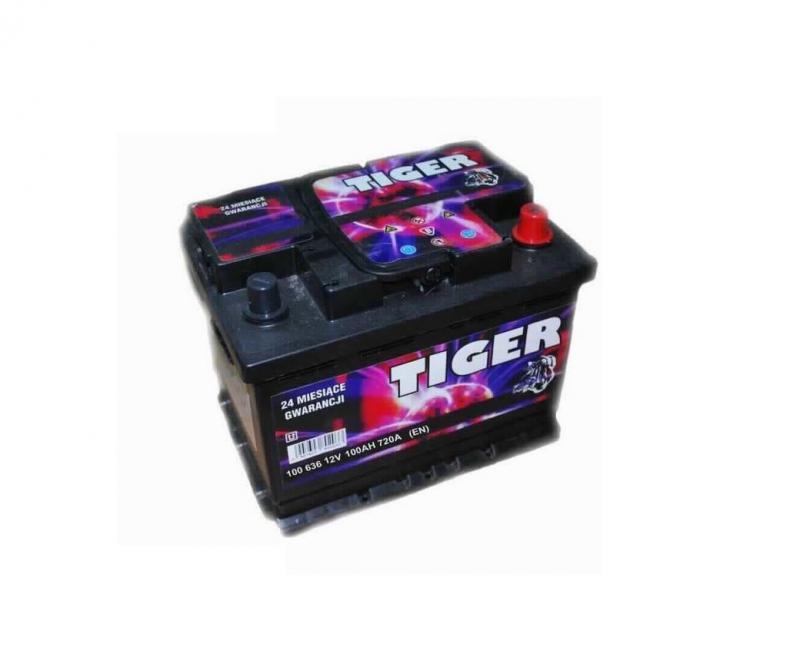 Akkumulátor TIGER 100AH 720A jobb+
