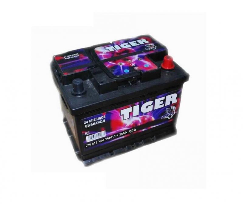 Akkumulátor TIGER 36AH jobb+ 280A
